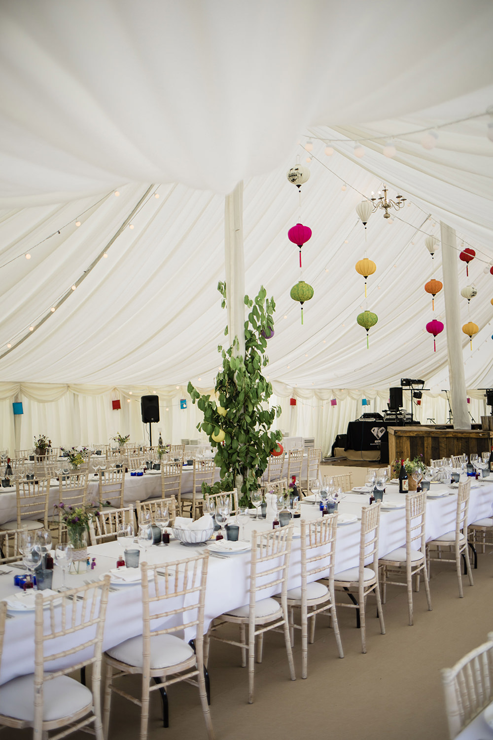 Vietnamese Lanterns Marquee Castle Wedding Rachael Fraser Photography