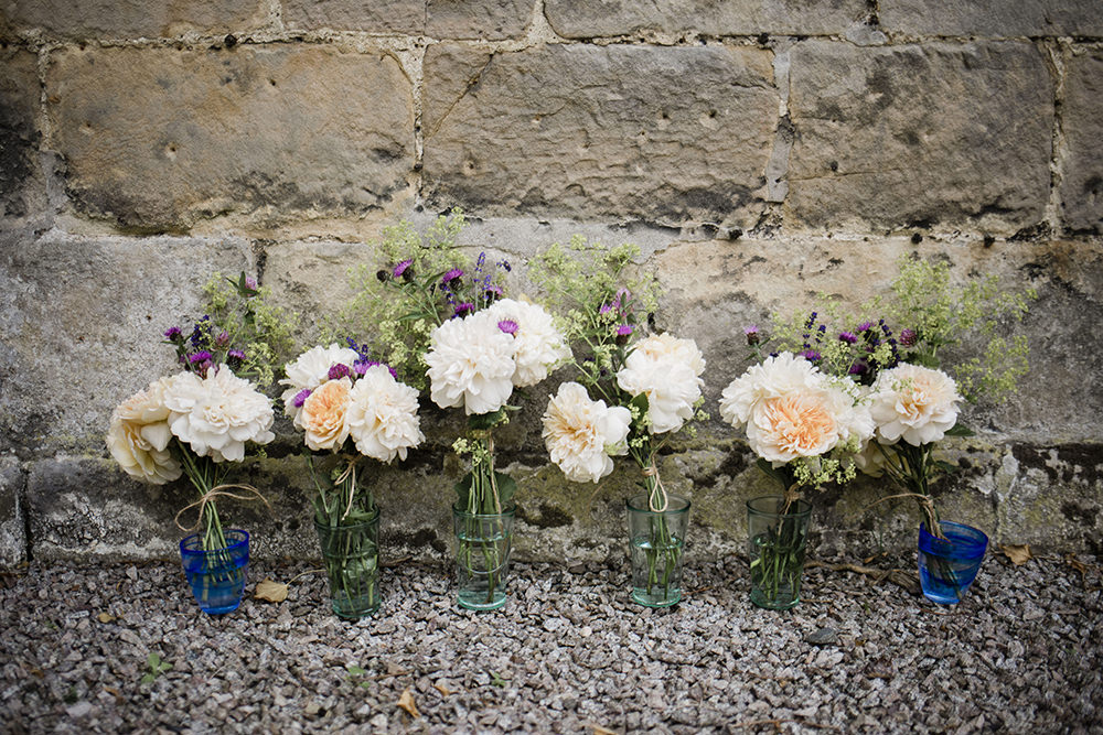 Bride Bridal Bouquet Bridesmaids Marquee Castle Wedding Rachael Fraser Photography