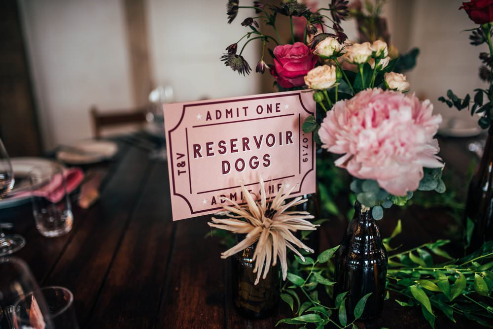 Bottle Flowers Centrepiece Decor Ticket Table Name Pink Red Wedding Three Flowers Photography