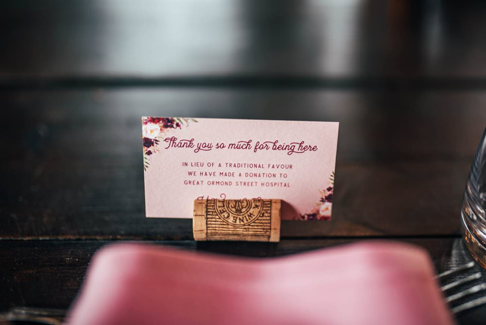 Charity Favour Favor Pink Red Wedding Three Flowers Photography