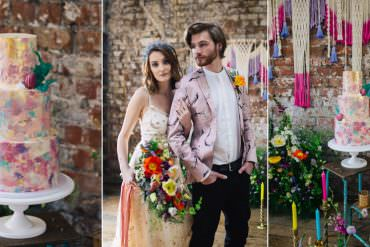 Playful & Cool Wedding Ideas with Colourful Meadow Flowers