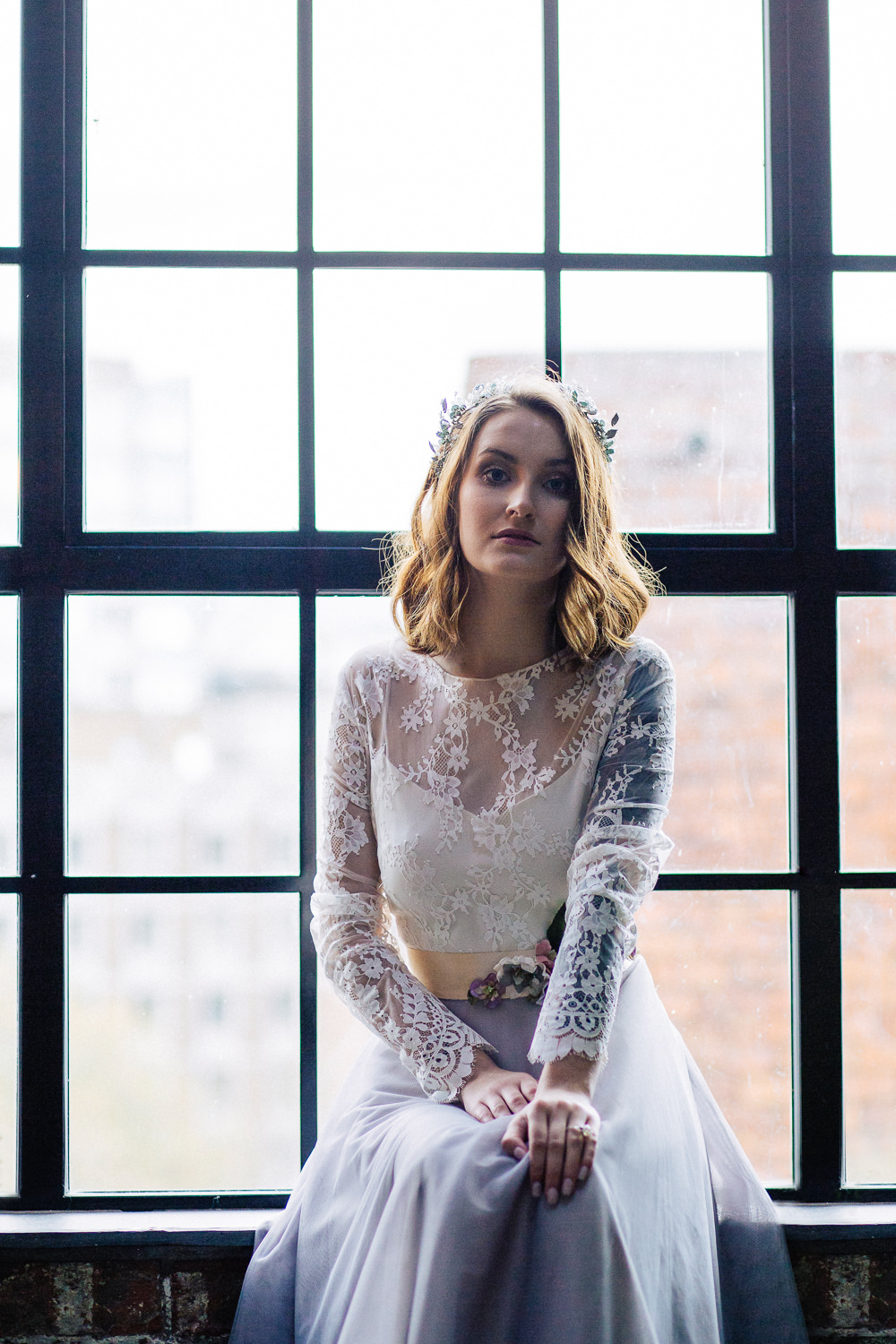 Bride Bridal Dress Gown Embroidery Leaves Berries Sleeves Playful Cool Wedding Ideas Sophie Lake Photography
