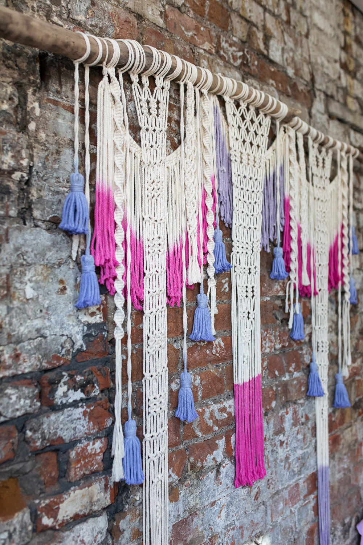 Macrame Dip Dye Tassel Pink Playful Cool Wedding Ideas Sophie Lake Photography