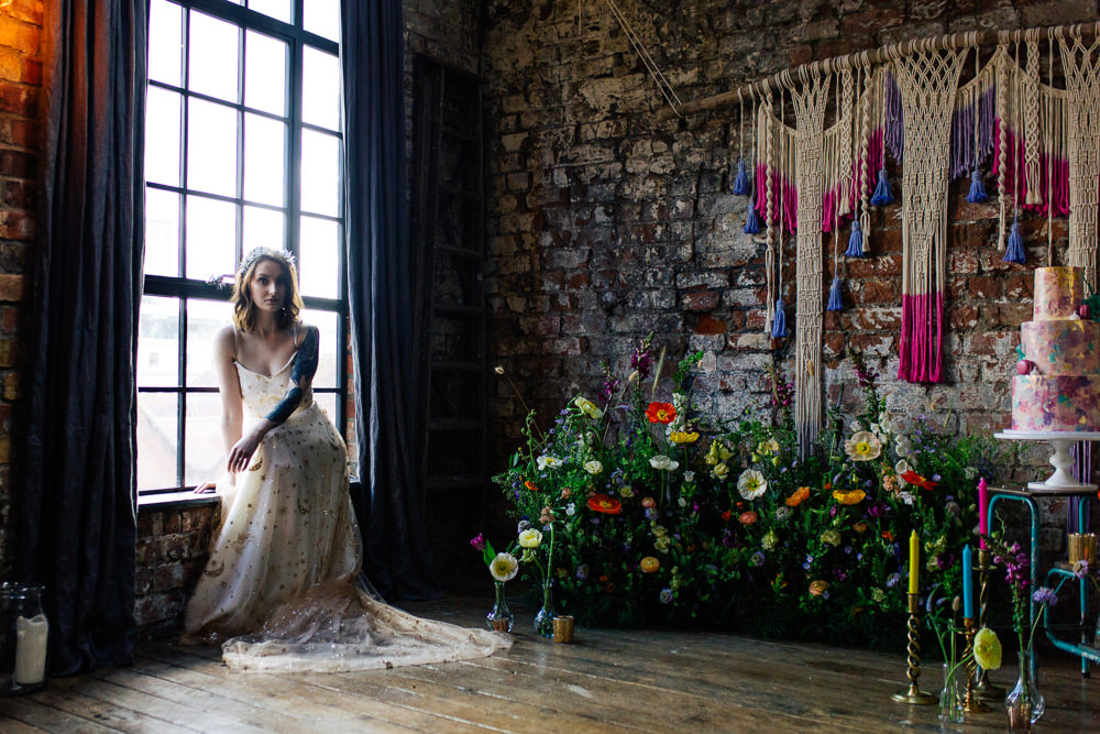 Meadow Flowers Meadowscape Arrangement Wild Colourful Poppy Poppies Playful Cool Wedding Ideas Sophie Lake Photography