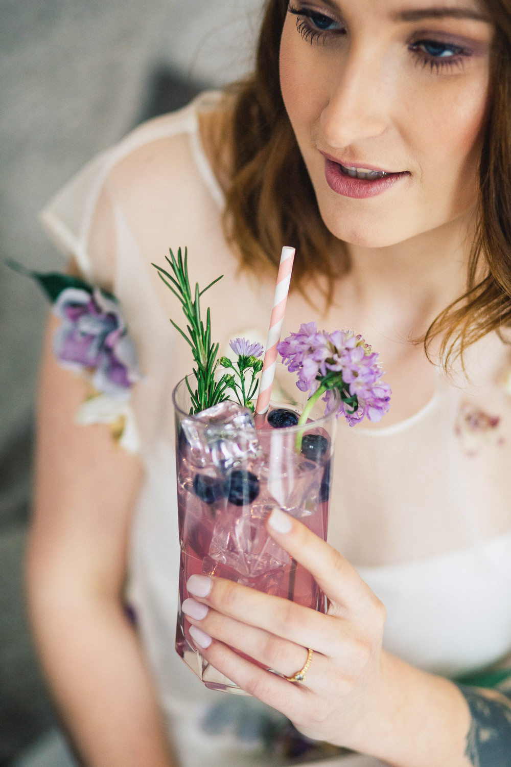 Drinks Cocktail Bar Gin Playful Cool Wedding Ideas Sophie Lake Photography