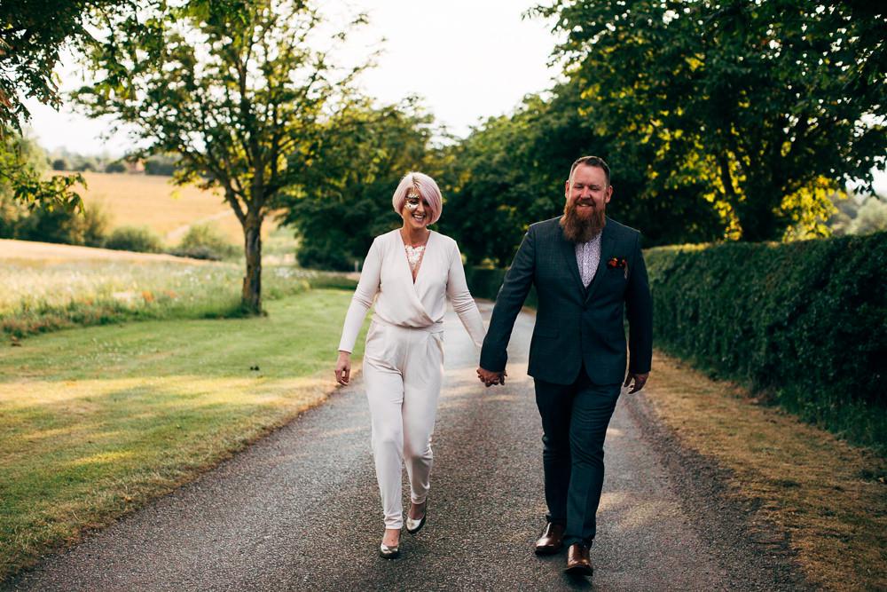 Bride Bridal Jumpsuit Retro Wedding Ideas Emily Little Wedding Photography