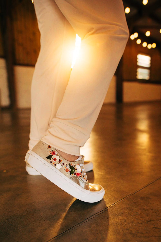 Bride Bridal Trainers Personalised Retro Wedding Ideas Emily Little Wedding Photography