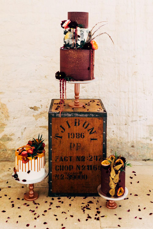 Cakes Cake Table Boxes Crates Wooden Retro Wedding Ideas Emily Little Wedding Photography