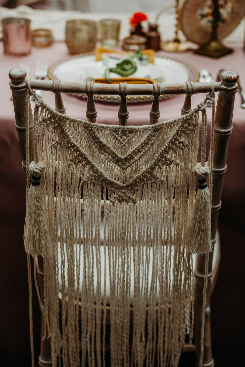Macrame Chairs Decor Decoration Hanging Tropical Wedding Ideas When Charlie Met Hannah