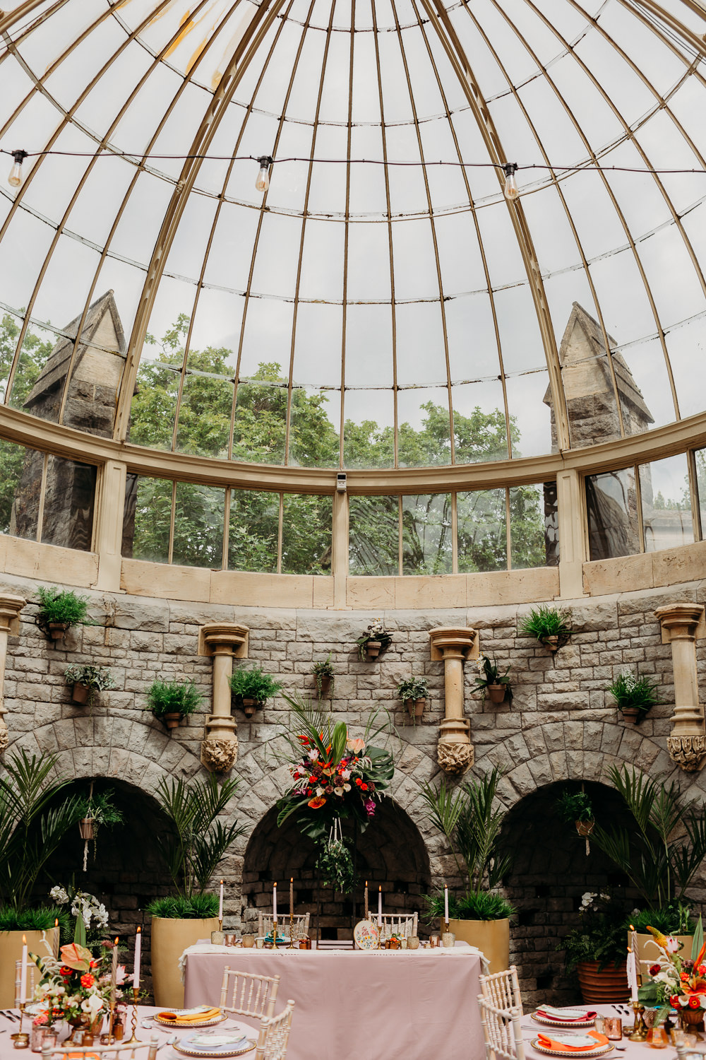 Glass House Green Venue Tropical Wedding Ideas When Charlie Met Hannah