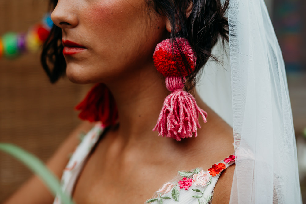 Bride Bridal Tassel Earrings Tropical Wedding Ideas When Charlie Met Hannah