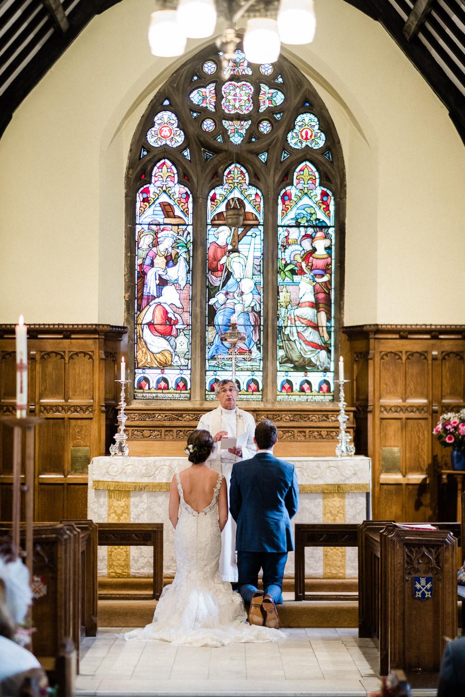 Bride Bridal Low V Neck Back Gown Dress Utopia Broughton Hall Wedding Christopher Thomas Photography