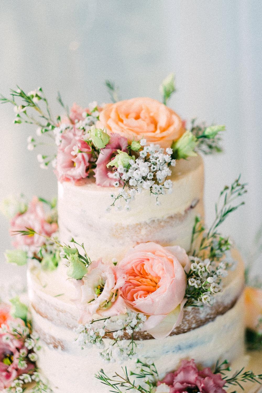 Semi Naked Buttercream Cake Flowers Floral Utopia Broughton Hall Wedding Christopher Thomas Photography