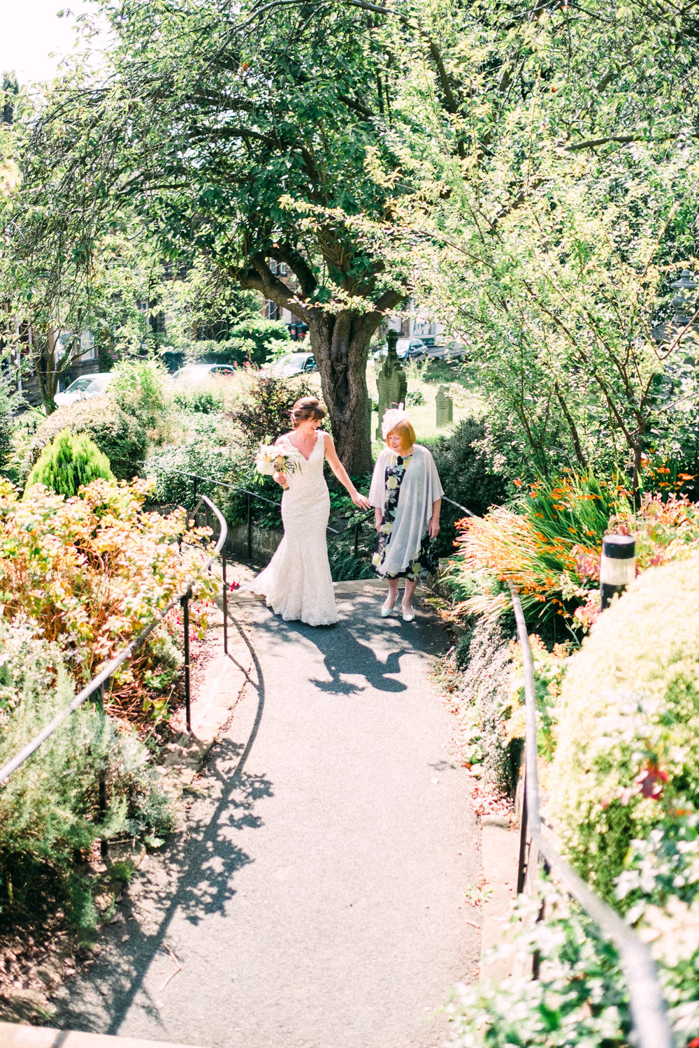 Bride Bridal Low V Neck Back Gown Dress Lace Utopia Broughton Hall Wedding Christopher Thomas Photography