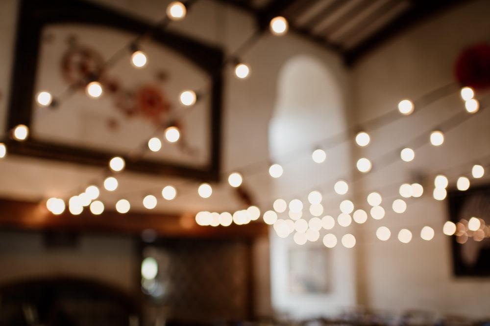 Festoon Lights Long Tables Decor Eco Friendly Sustainable Voewood Wedding Ellie Gillard Photography