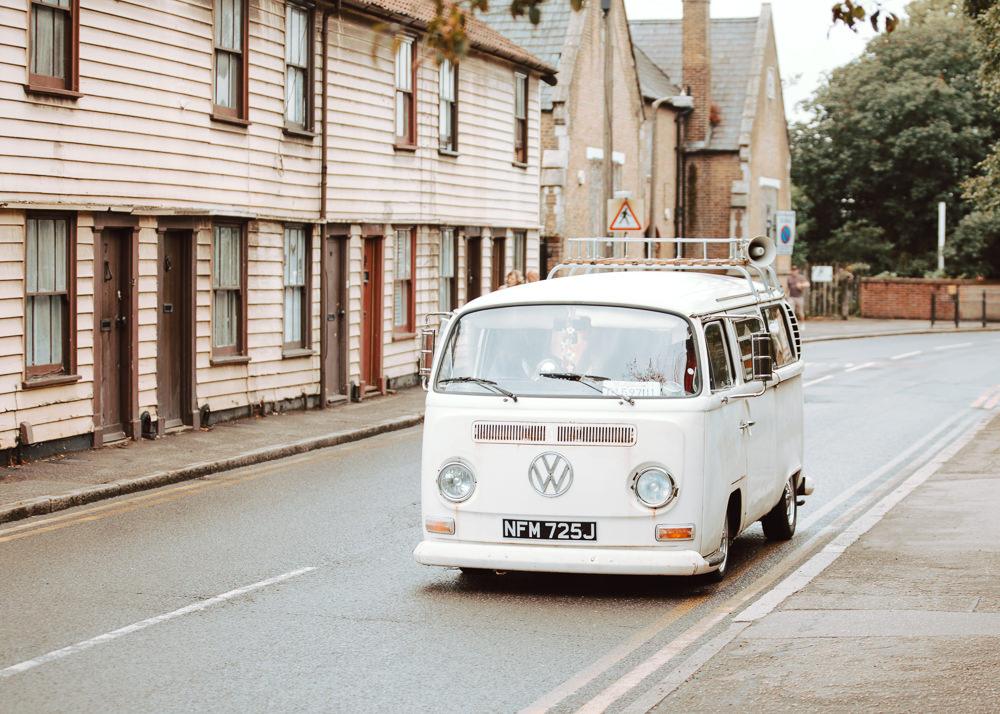 VW Camper Van Willingale Village Hall Wedding Photographer Liam Gillan