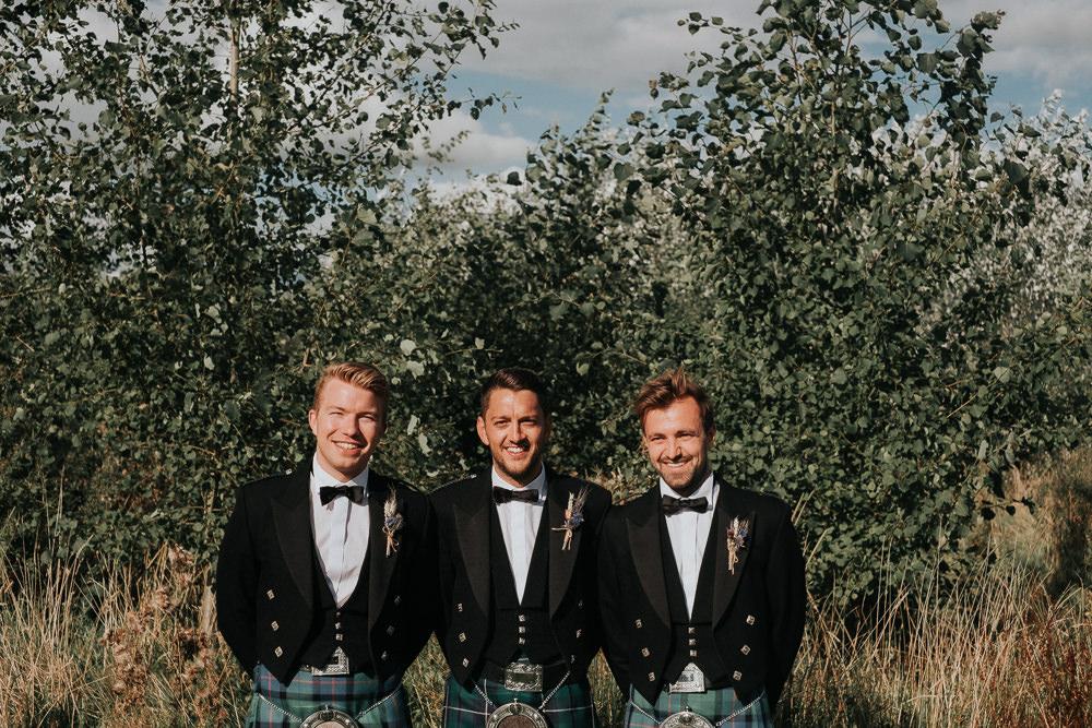 Kilt Groom Groomsmen Woodland Tipi Wedding Caroline Goosey Photography