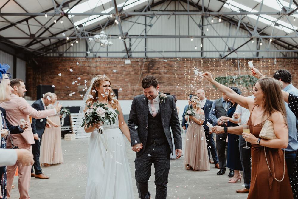 Confetti Throw 92 Burton Road Wedding Stevie Jay Photography