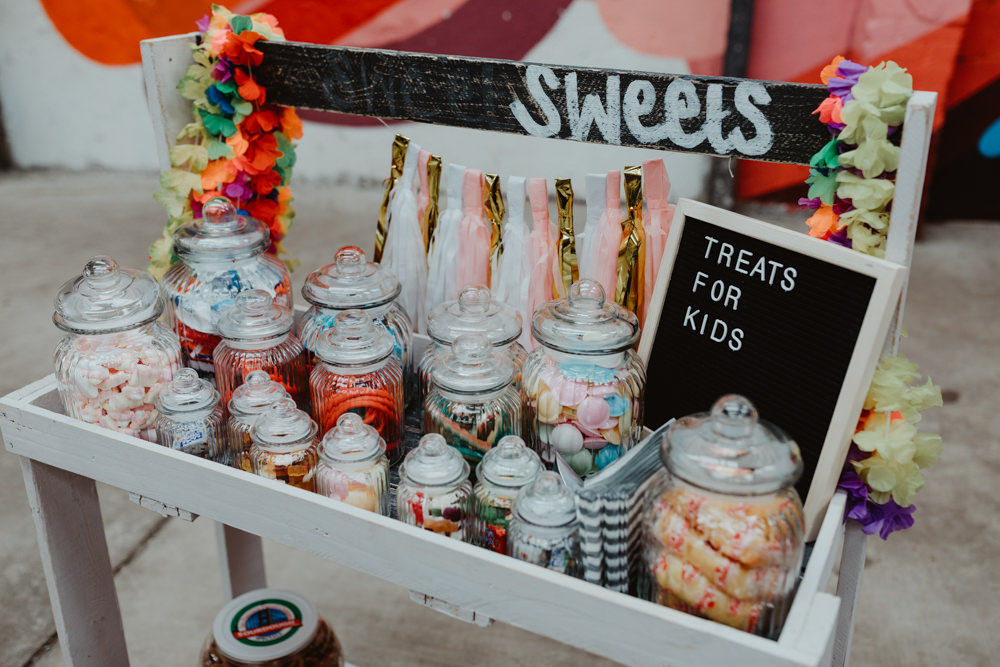Sweets Sweetie Station Stand Bar 92 Burton Road Wedding Stevie Jay Photography