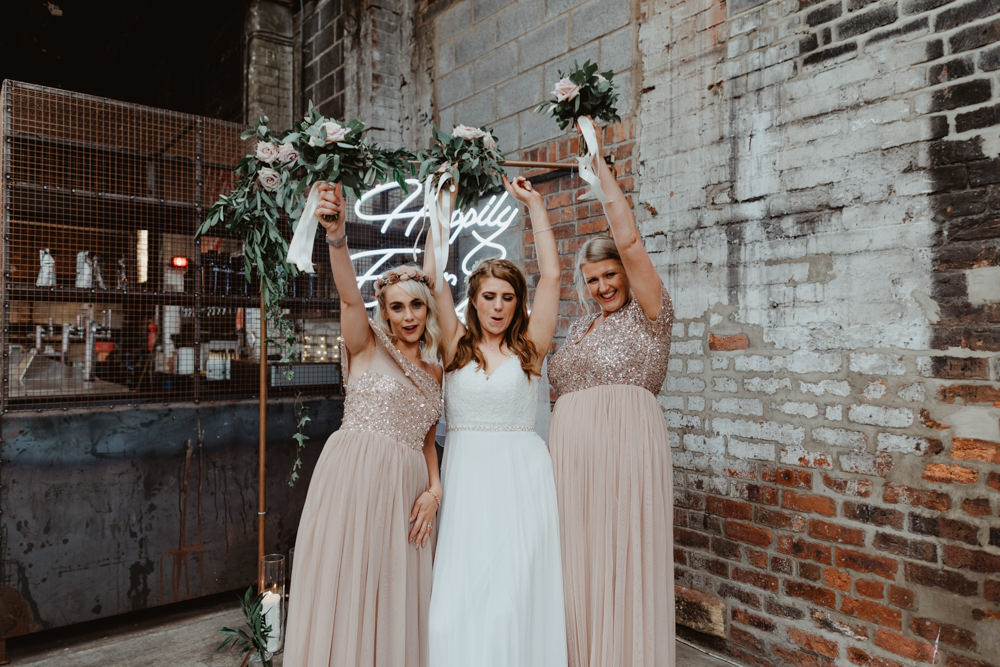 Bridesmaids Bridesmaid Dress Dresses Pink Sequin 92 Burton Road Wedding Stevie Jay Photography