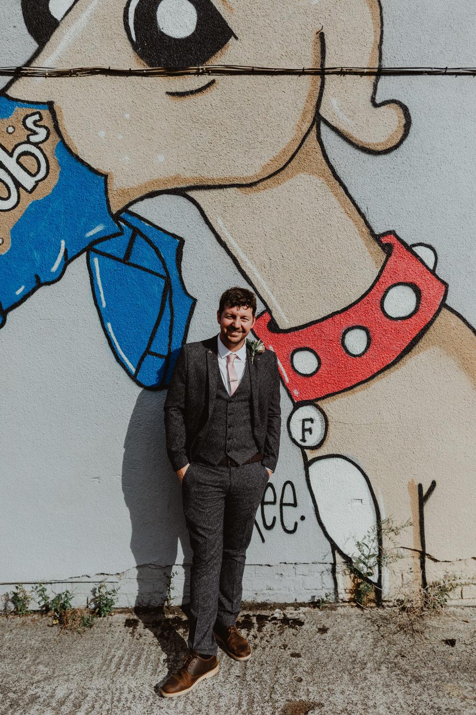 Groom Suit Groomsmen Grey Pink Tie 92 Burton Road Wedding Stevie Jay Photography