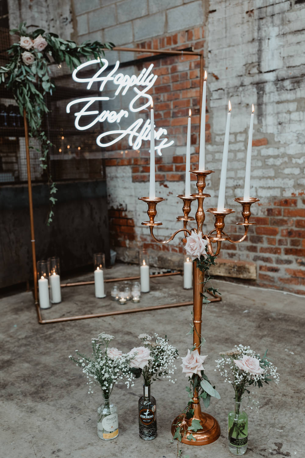 Candlesticks Flowers Decor Ceremony 92 Burton Road Wedding Stevie Jay Photography