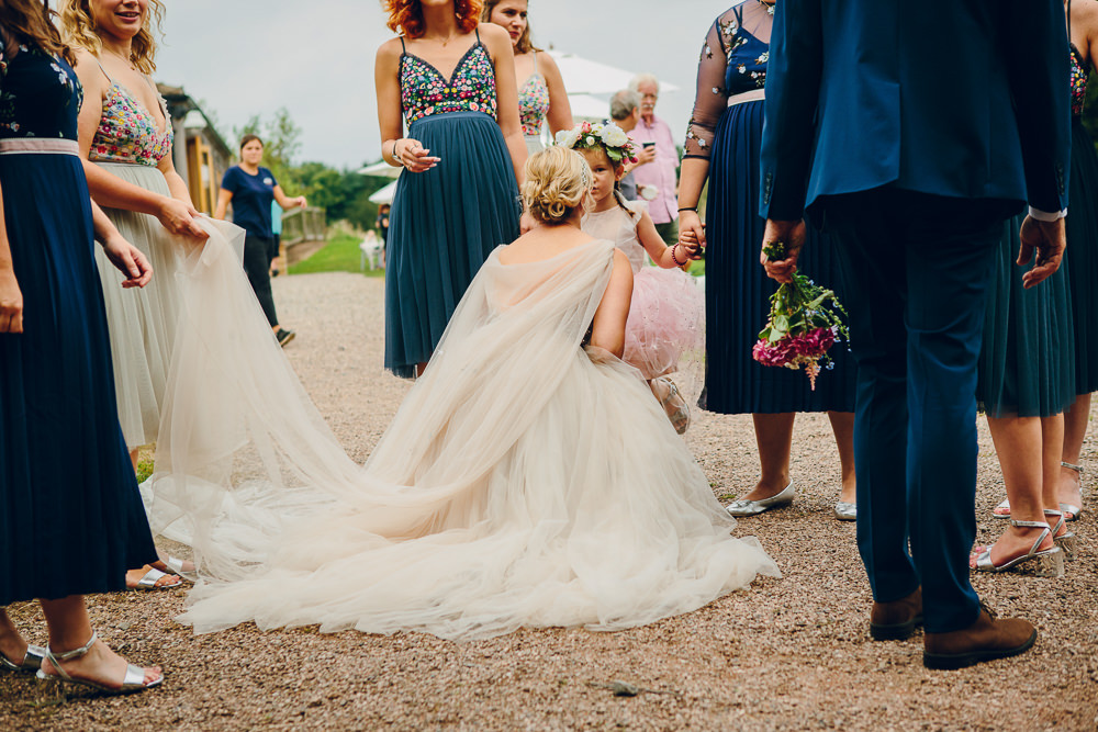 Dress Gown Bride Bridal Star Veil Glitter Tulle Princess Cape Alderford Lake Wedding Amy B Photography