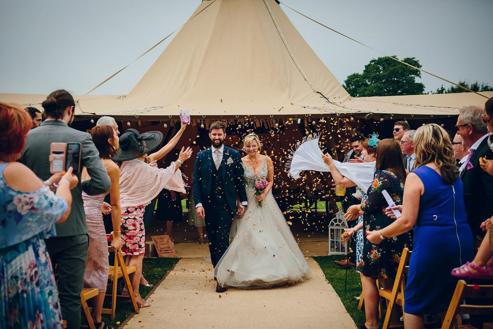 Confetti Tipi Alderford Lake Wedding Amy B Photography