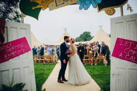 Alderford Lake Wedding Amy B Photography Entrance Doorway Arch Doors Sign Signage Signs Backdrop