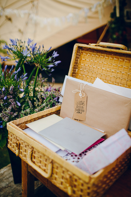 Card Box Hamper Basket Alderford Lake Wedding Amy B Photography