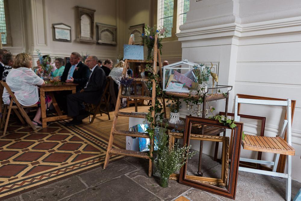 Wooden Frames Decor Boxes Ladder Arnos Vale Cemetery Wedding Rob Smith Photographer