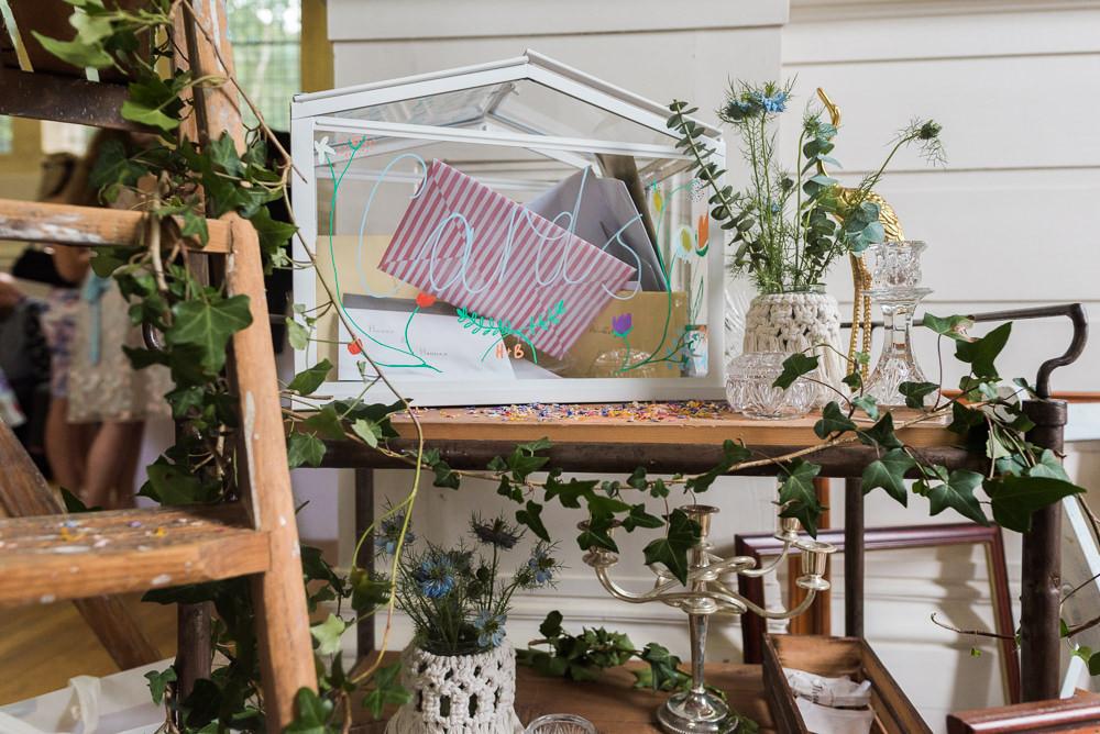Card Box Terrarium Arnos Vale Cemetery Wedding Rob Smith Photographer