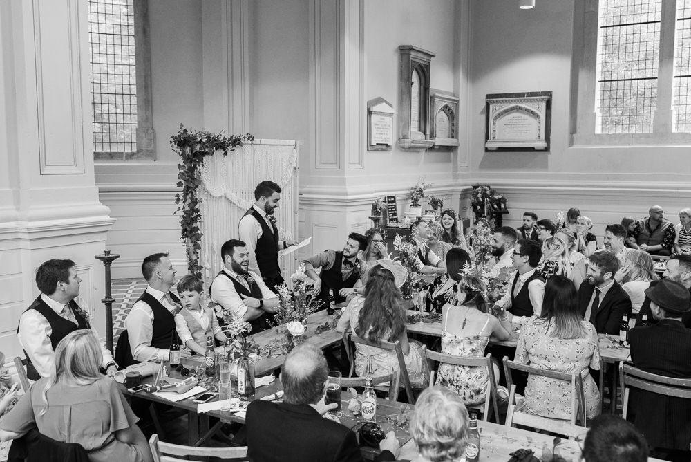 Table Decor Decorations Long Tables Flowers Macrame Backdrop Arnos Vale Cemetery Wedding Rob Smith Photographer