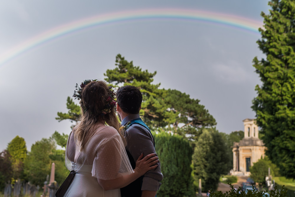 Rainbow Arnos Vale Cemetery Wedding Rob Smith Photographer