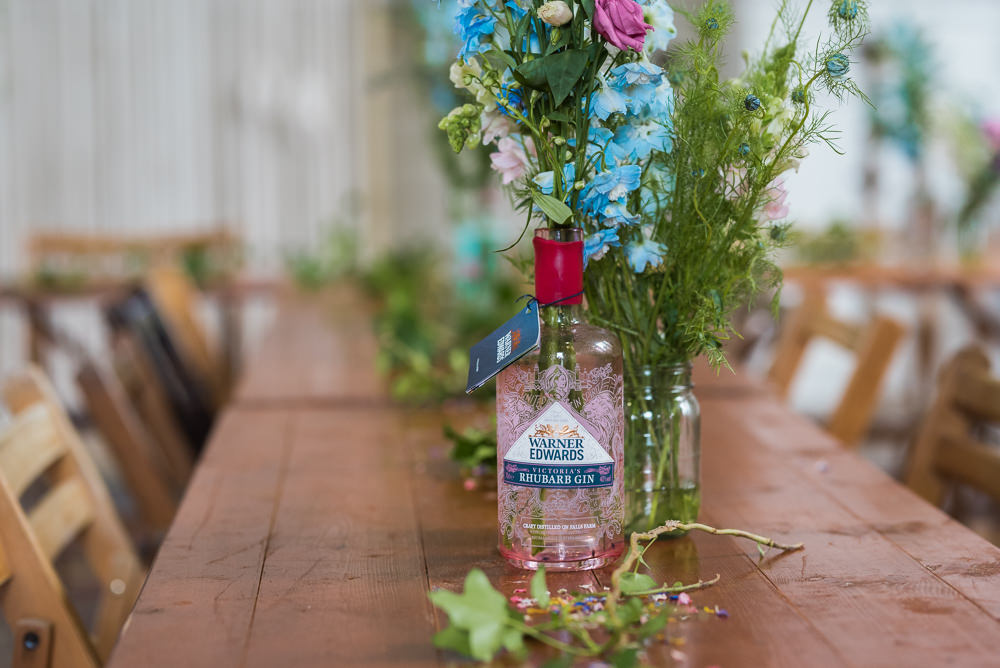 Table Flowers Bottles Wild Pretty Natural Arnos Vale Cemetery Wedding Rob Smith Photographer