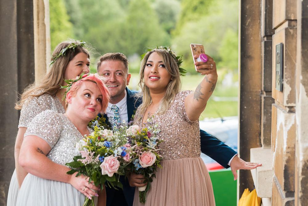 Bridesmaids Bridesmaid Dresses Dress Sequin Bridesman Arnos Vale Cemetery Wedding Rob Smith Photographer