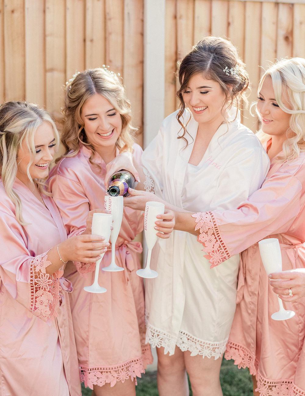 Bride Bridal Bridesmaids Dressing Gowns Robes Beamish Hall Wedding Carn Patrick Photography