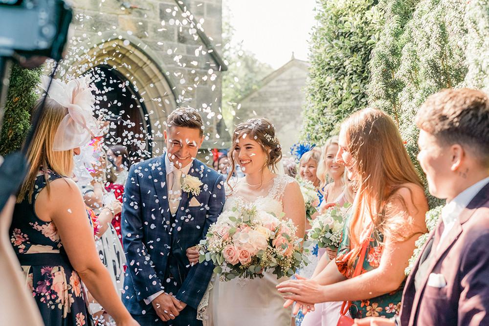 Confetti Beamish Hall Wedding Carn Patrick Photography