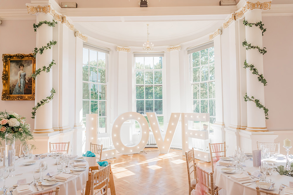 Love Letter Lights Beamish Hall Wedding Carn Patrick Photography