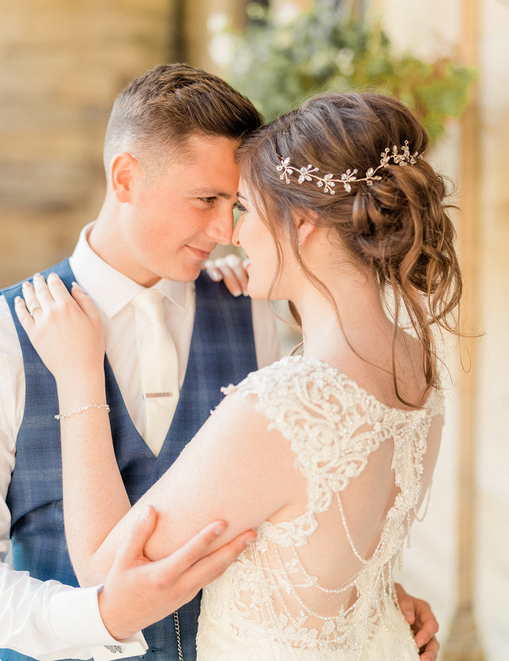 Bride Bridal Hair Style Up Do Accessory Beamish Hall Wedding Carn Patrick Photography
