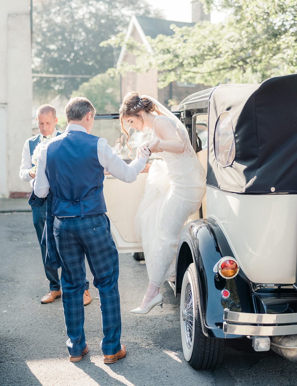 Classic Car Transport Beamish Hall Wedding Carn Patrick Photography