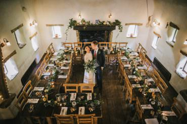Cosy Autumn Candlelit Wedding with Greenery & Pumpkins