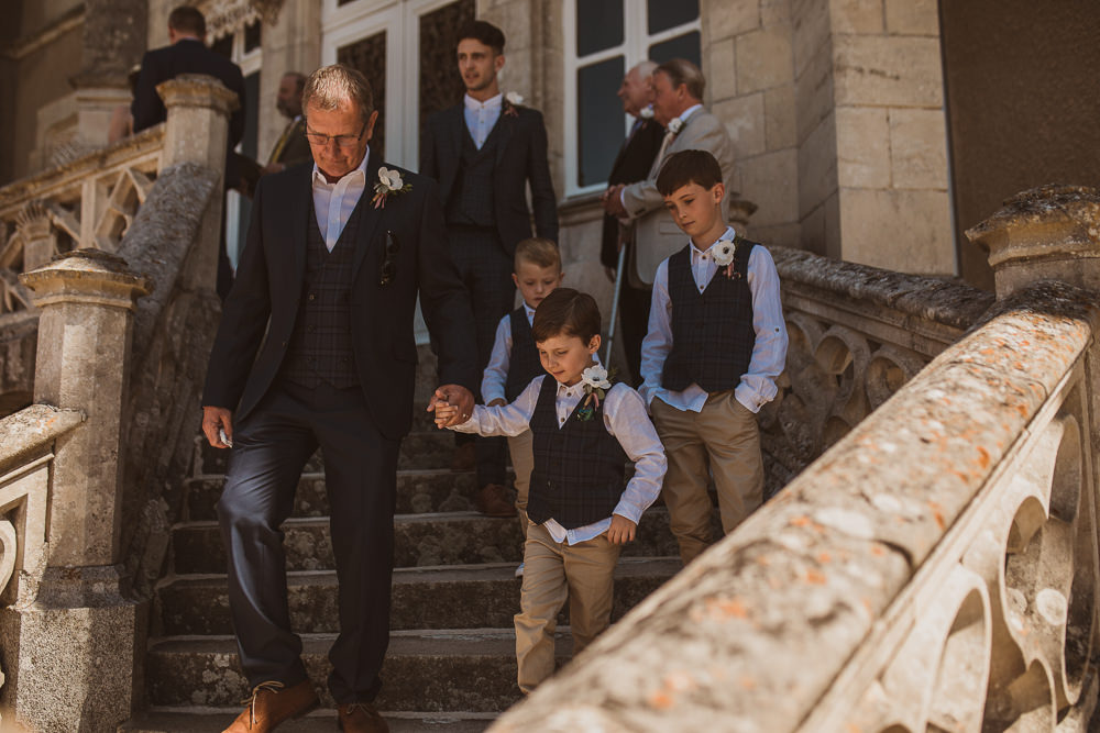 Groomsmen Page Boy Suits Waistcoats Escape To The Chateau Wedding The Springles