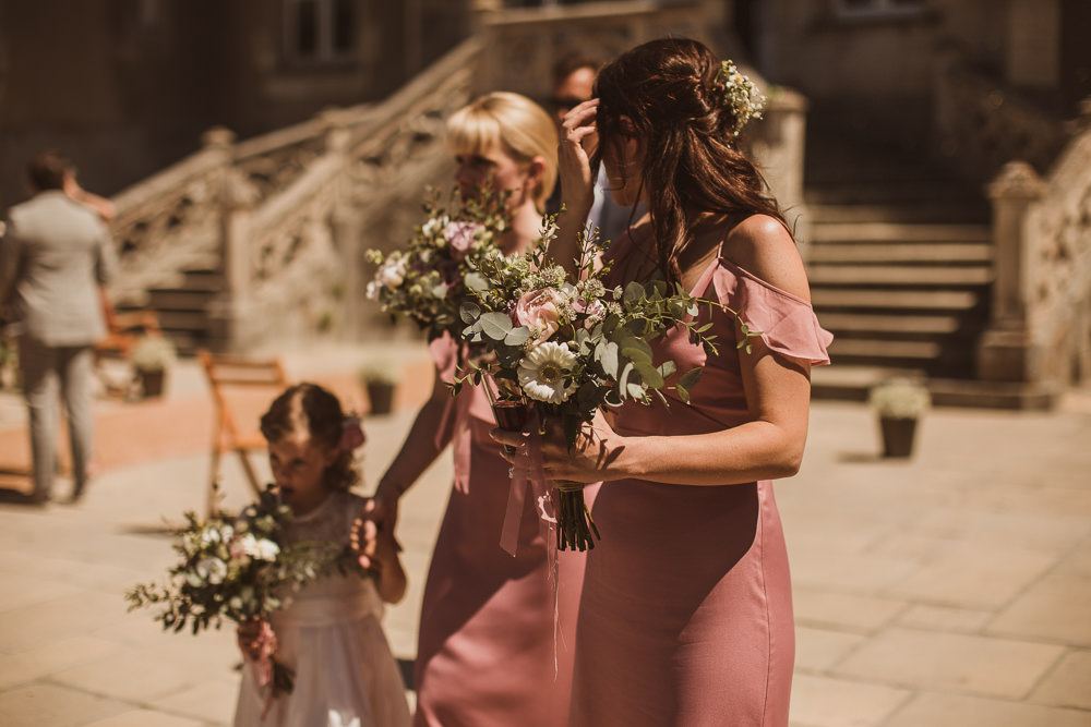 Bouquet Flowers Bride Bridal Anemones Silk Peonies Gypsophila Roses Eucalyptus Bridesmaids Escape To The Chateau Wedding The Springles
