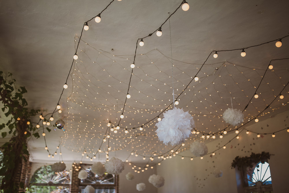 Pom Poms Fairy Lights Decor Decoration Escape To The Chateau Wedding The Springles
