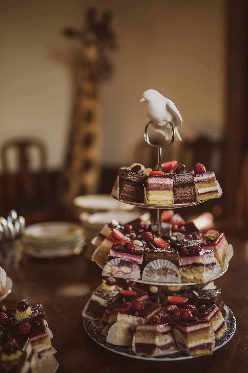 Afternoon Tea Stand Cakes Escape To The Chateau Wedding The Springles