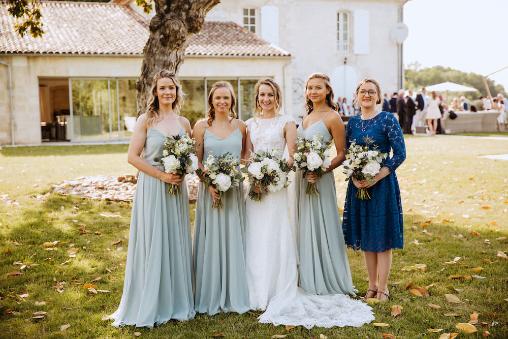 Bridesmaids Bridesmaid Dress Dresses Sage Green French Chateau Wedding Red On Blonde Photography