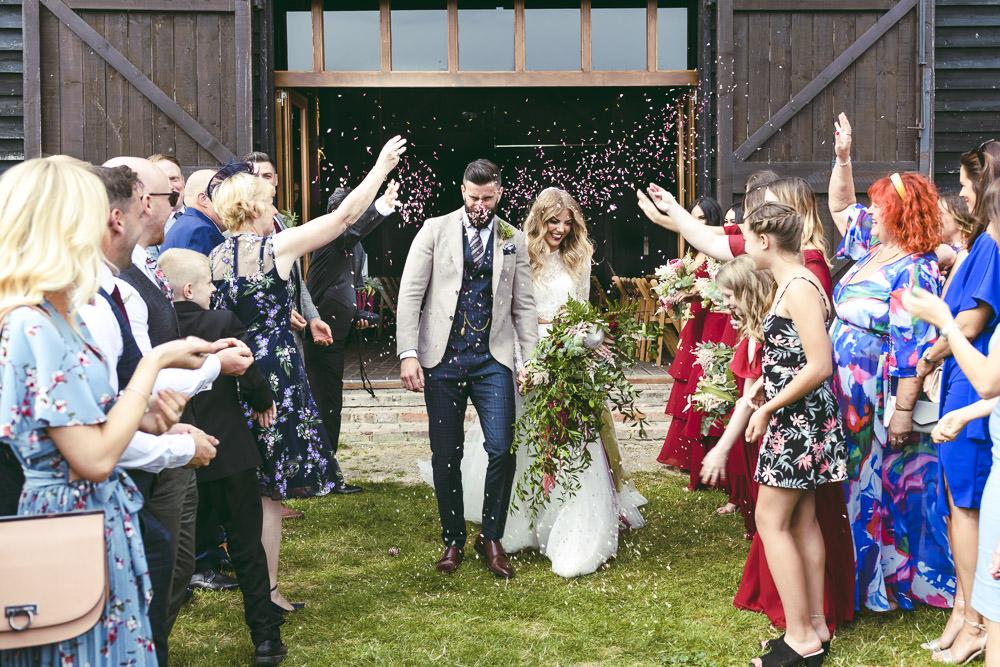 Confetti Kingshill Barn Wedding Sandra Reddin Photography