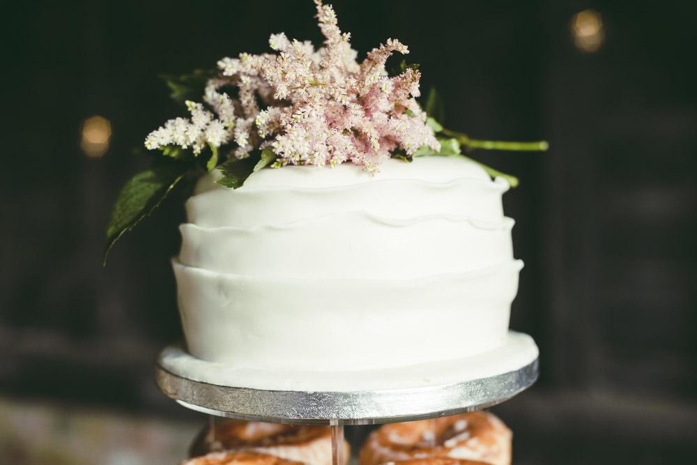 Buttercream Cake Astilbe Topper Kingshill Barn Wedding Sandra Reddin Photography
