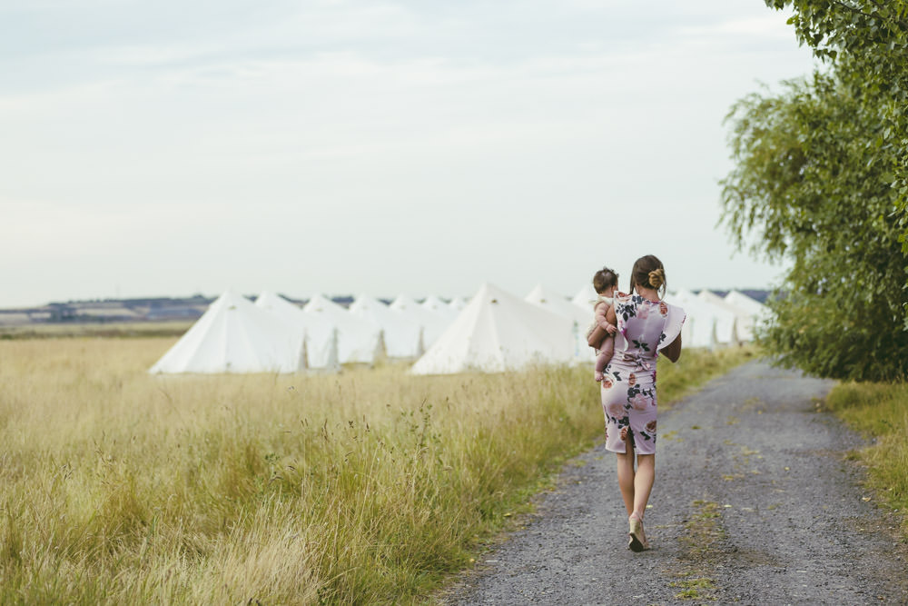 Bell Tents Glamping Kingshill Barn Wedding Sandra Reddin Photography